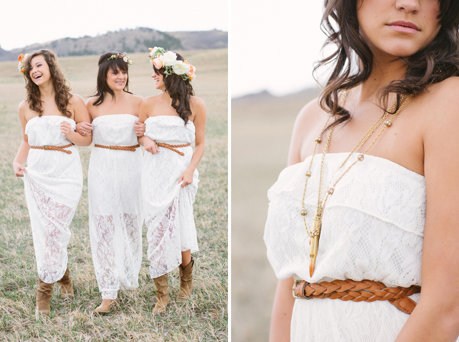 flower crowns, bohemian chic bride, eco-chic bride