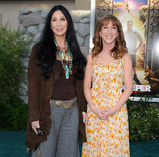 Cher and Kathy Griffin at the premiere of 'Zookeeper'