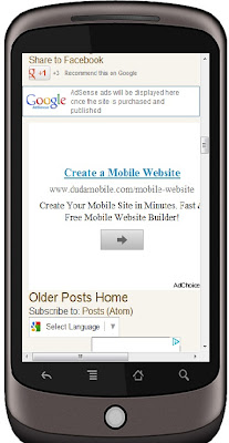Adsense for mobile content