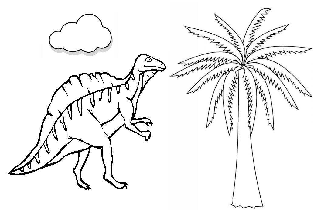 Dinosaurios para colorear: Ouranosaurus para colorear