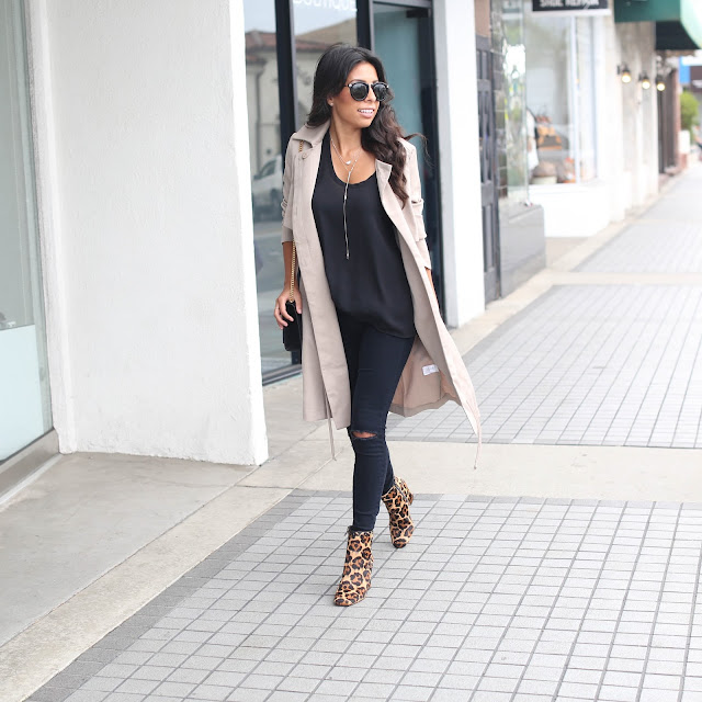 coach leopard boots, how to wear leopard print, all black outfit