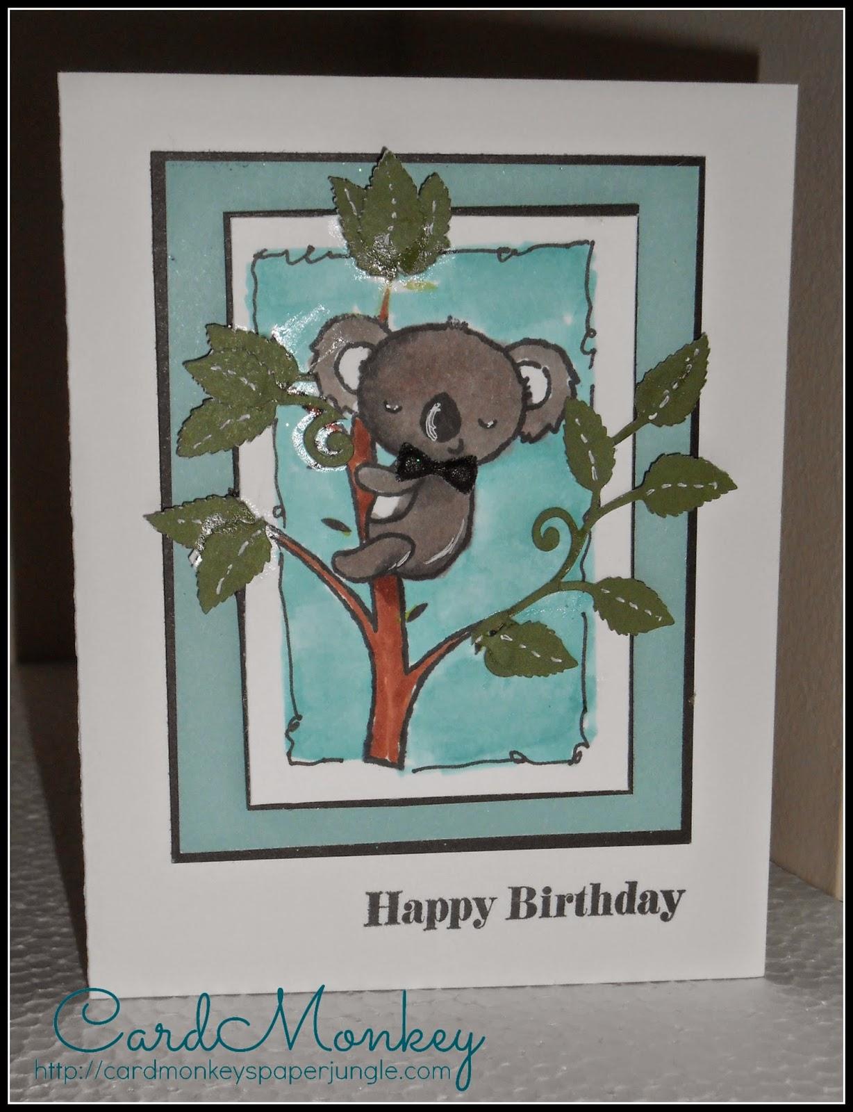 Cardmonkeys Paper Jungle Birthday Cute Koala Card