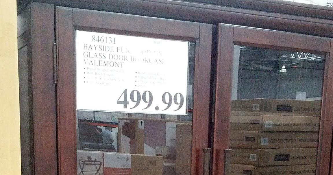 Bayside Furnishings Valemont Glass Door Bookcase Costco