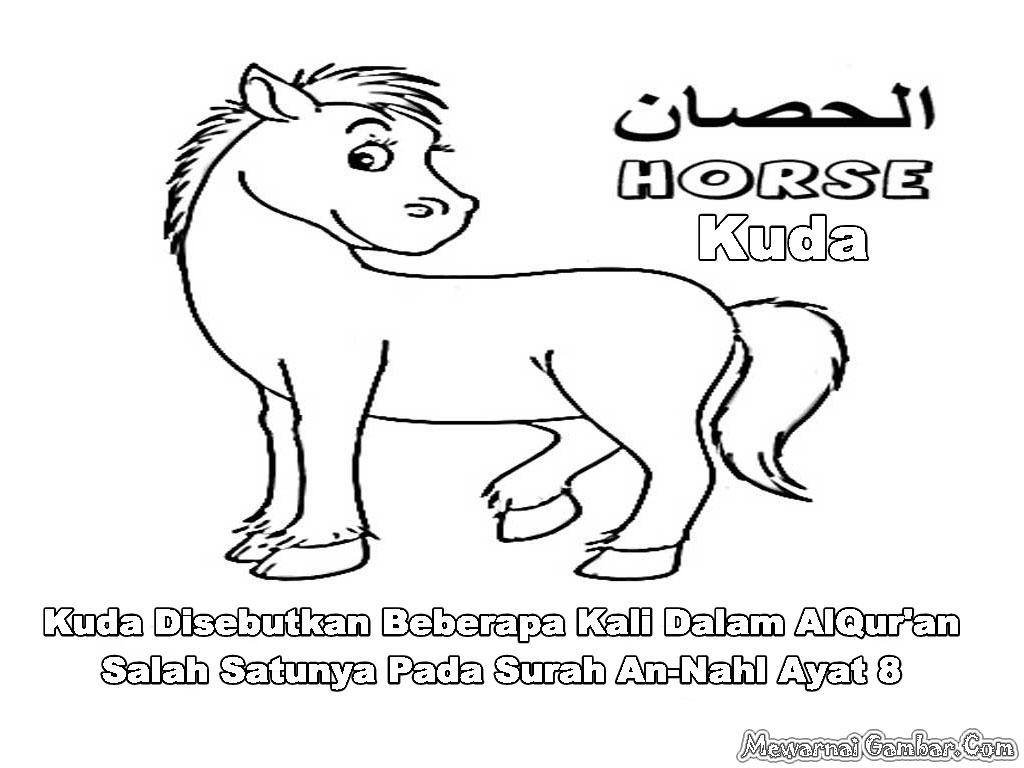 Gambar Mewarnai Kuda Dan Bebek | Apps Directories