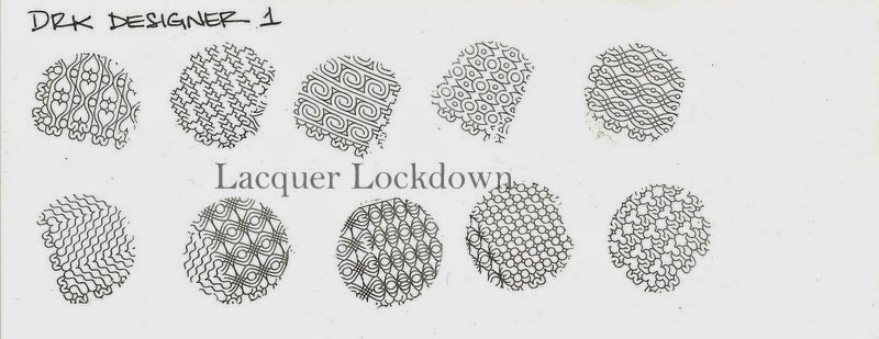 Lacquer Lockdown - DRK Nails, DRK, nail art stamping blog, drk nails desginer series, nail art stamping , new nail art stamping plates 2014, leadlight plates, brazilian nail art stamping plates, cute nail art ideas, diy nail art, nail art stamping, easy nail art ideas