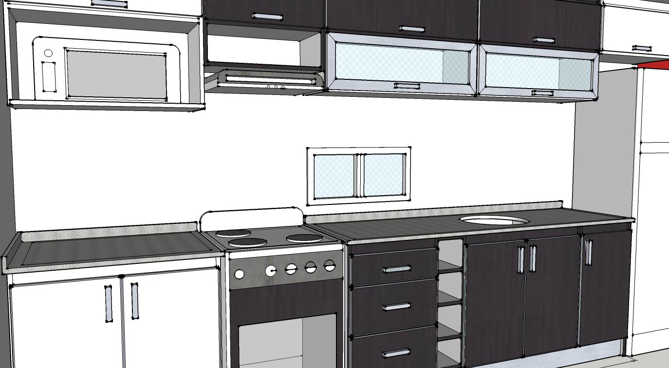 Dise os a medida muebles de cocina carpinterof for Disenos de muebles para cocina