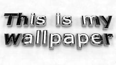 This is my Wallpaper 3D Metallic Text HD Desktop Wallpaper