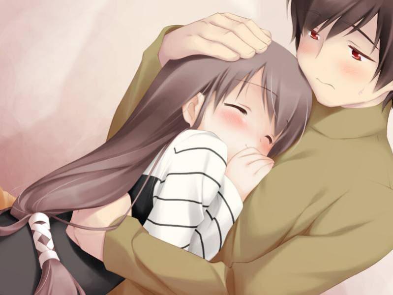 Beautiful life romantic anime - Anime hug pics ...
