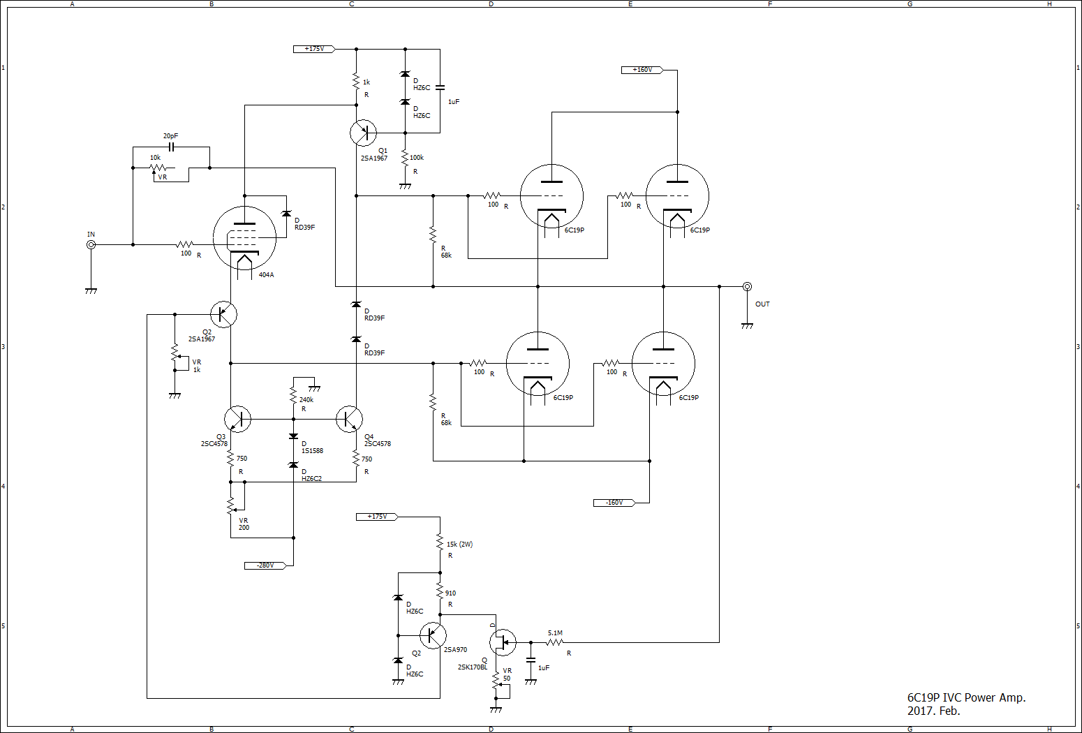 6C19PIVCpower Quad Schematic on electronic circuits, metal detector, guitar pedal, high voltage, tube guitar amp, block diagram, power supply circuits,