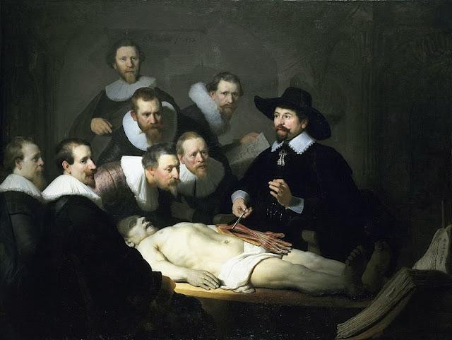leccion de anatomia Lección de Anatomía del Dr. Nicolaes Tulp. Rembrandt
