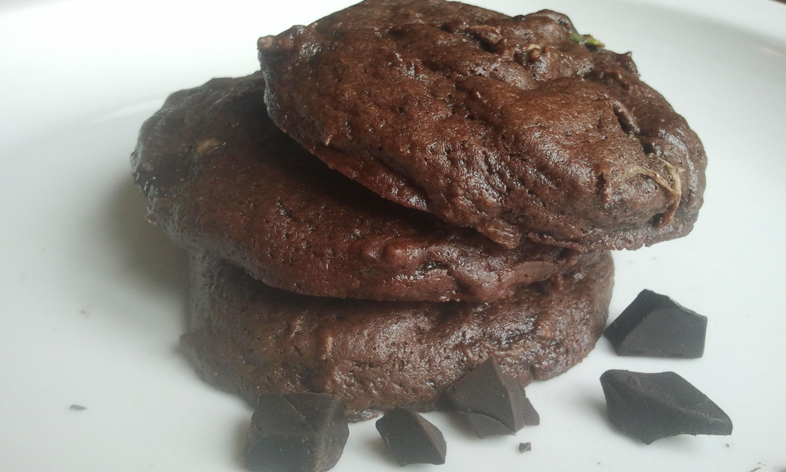 Food of Love: Chocolate Fudge Zucchini Cookies