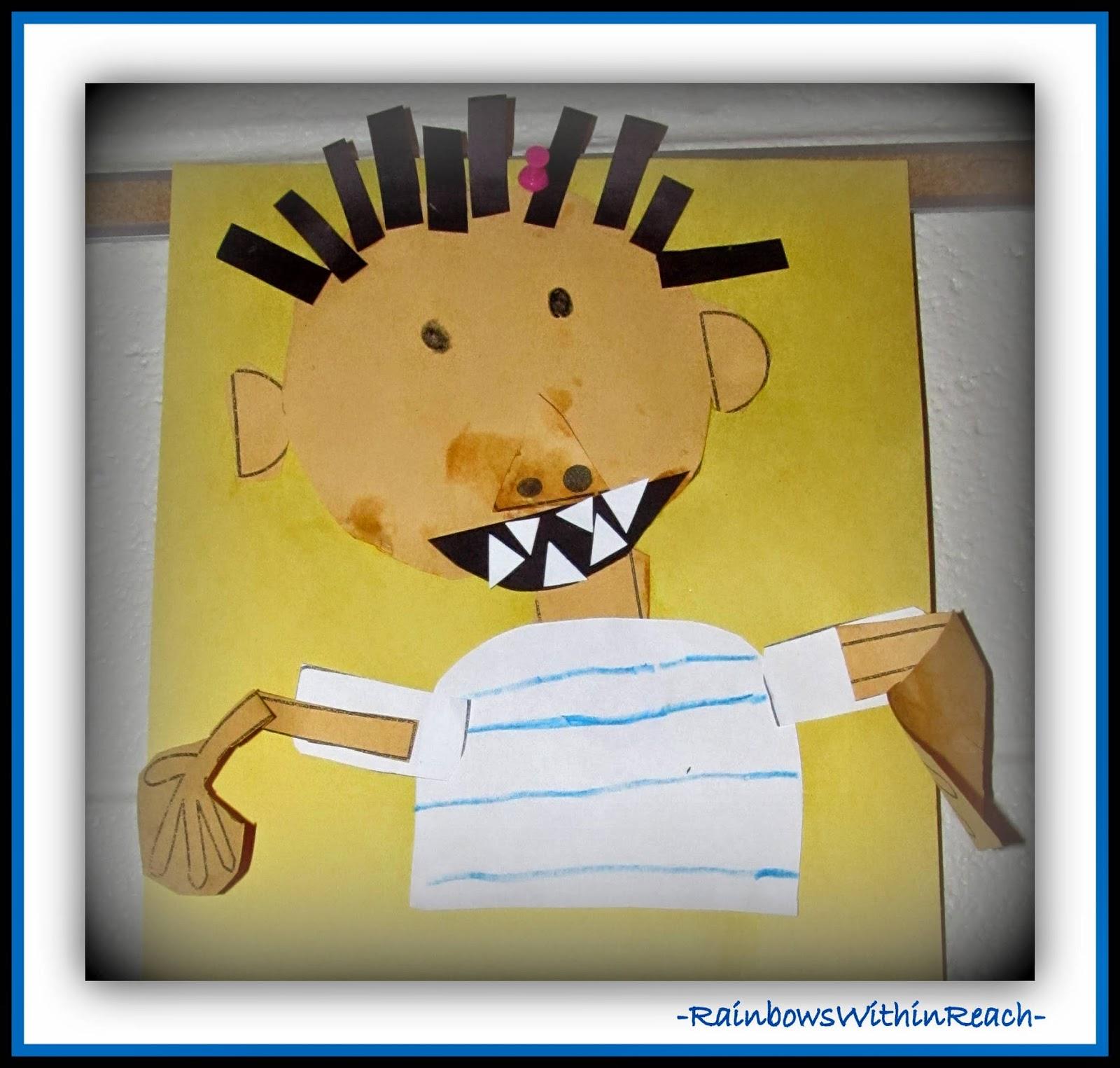 """No David!"" Kindergarten Art Response at RainbowsWithinReach"