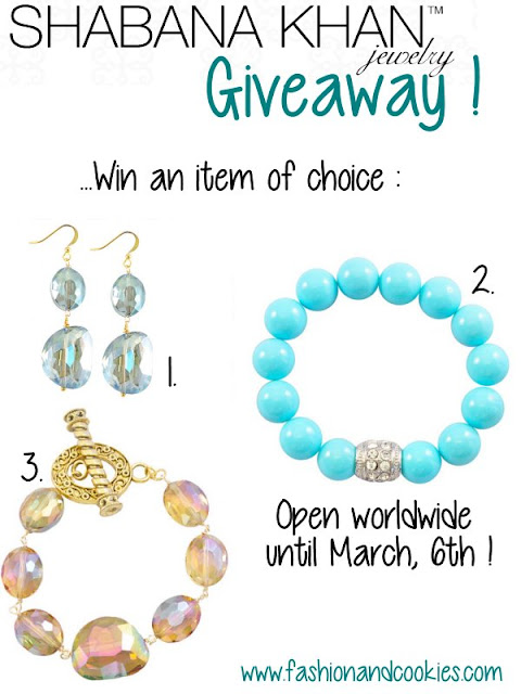Shabana Khan giveaway on Fashion and Cookies