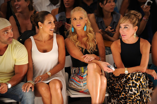 Joey, Melissa Gorga, Alexia Echeverria and Marisol Patton at L* Space at MBFWS 2014