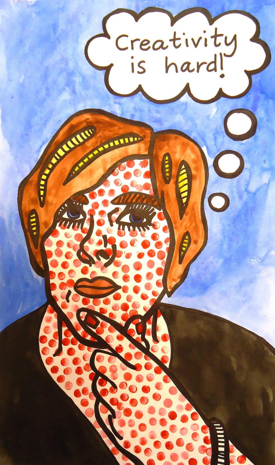 lesson plan lichtenstein pop art self portrait artful artsy amy