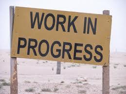 work in progress, sign, beach