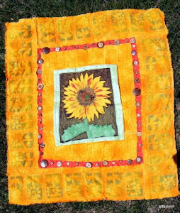 Sold: Sunflower Art Quilt