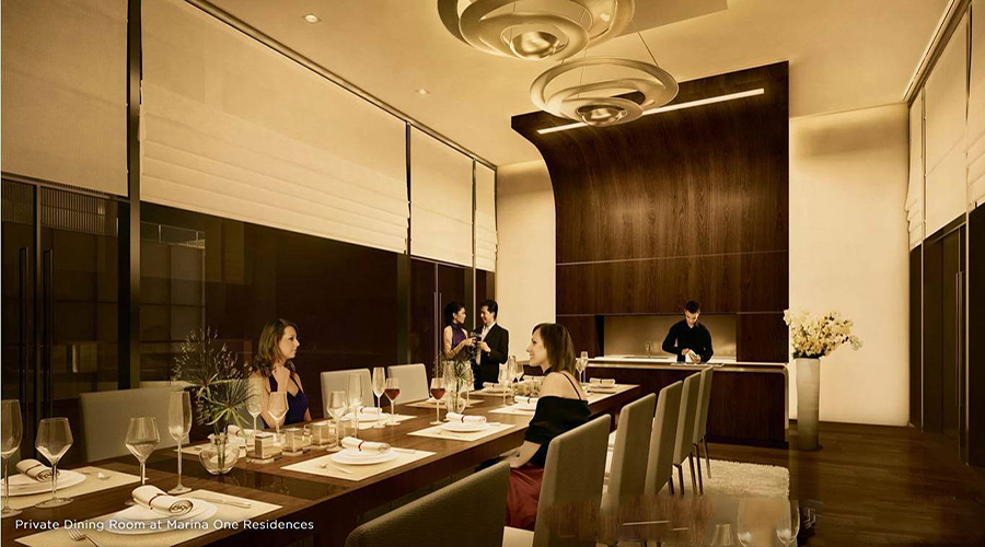 Private Dining room at Marina One Residences