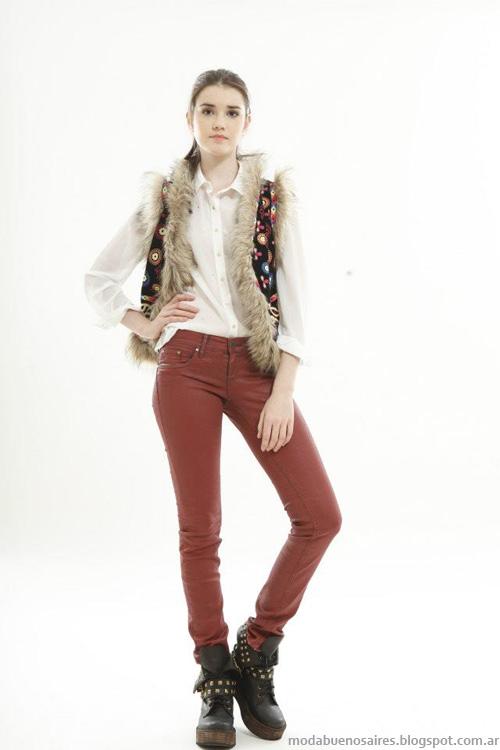 Chalecos invierno 2013 moda Ossira