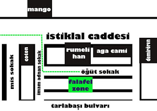 İstiklal caddesinde Mangonun karşı sokağı İmam Adnan sokağa girin ilk sola dönün Öğüt sokak no:4'te