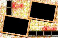 Molduras decorada para 8 fotos