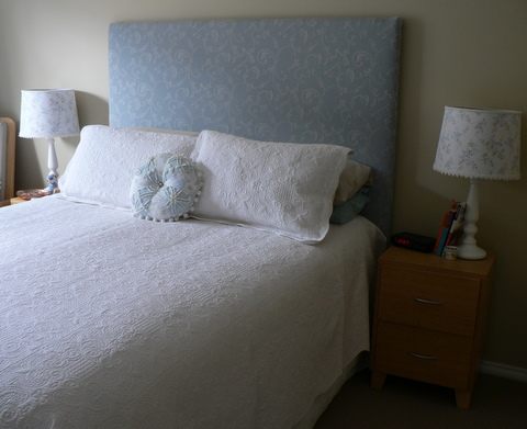 Our Shabby Cottage Quick Bedroom Makeover Padded Bedhead