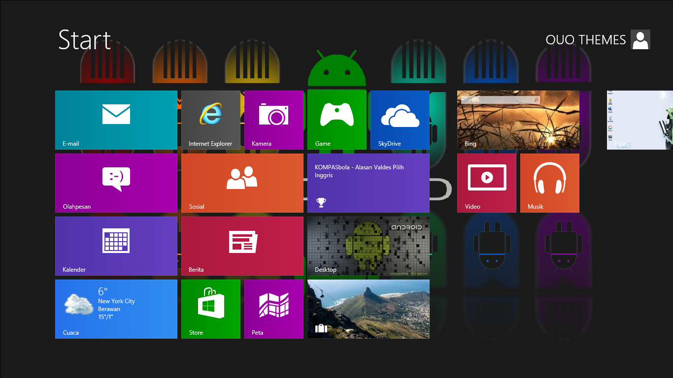 Download gratis tema windows 7 android theme for windows 7 and 8