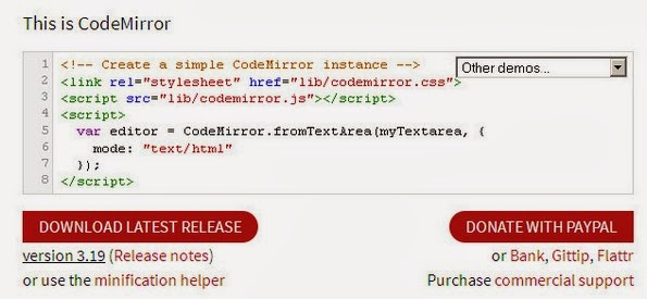 CodeMirror web editor