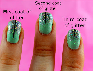 Nail art - ombre nails - nail glitter - nail trends - nail tutorial - nail polish