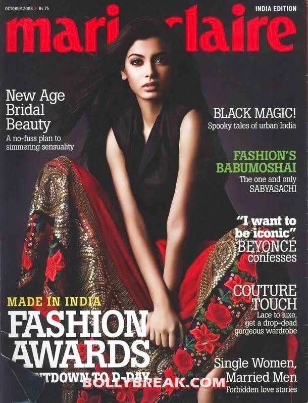 Diana penty on cover of Marie Claire 2008 Magazine  - Diana penty Old Marie Claire 2008 Magazine Cover Scan