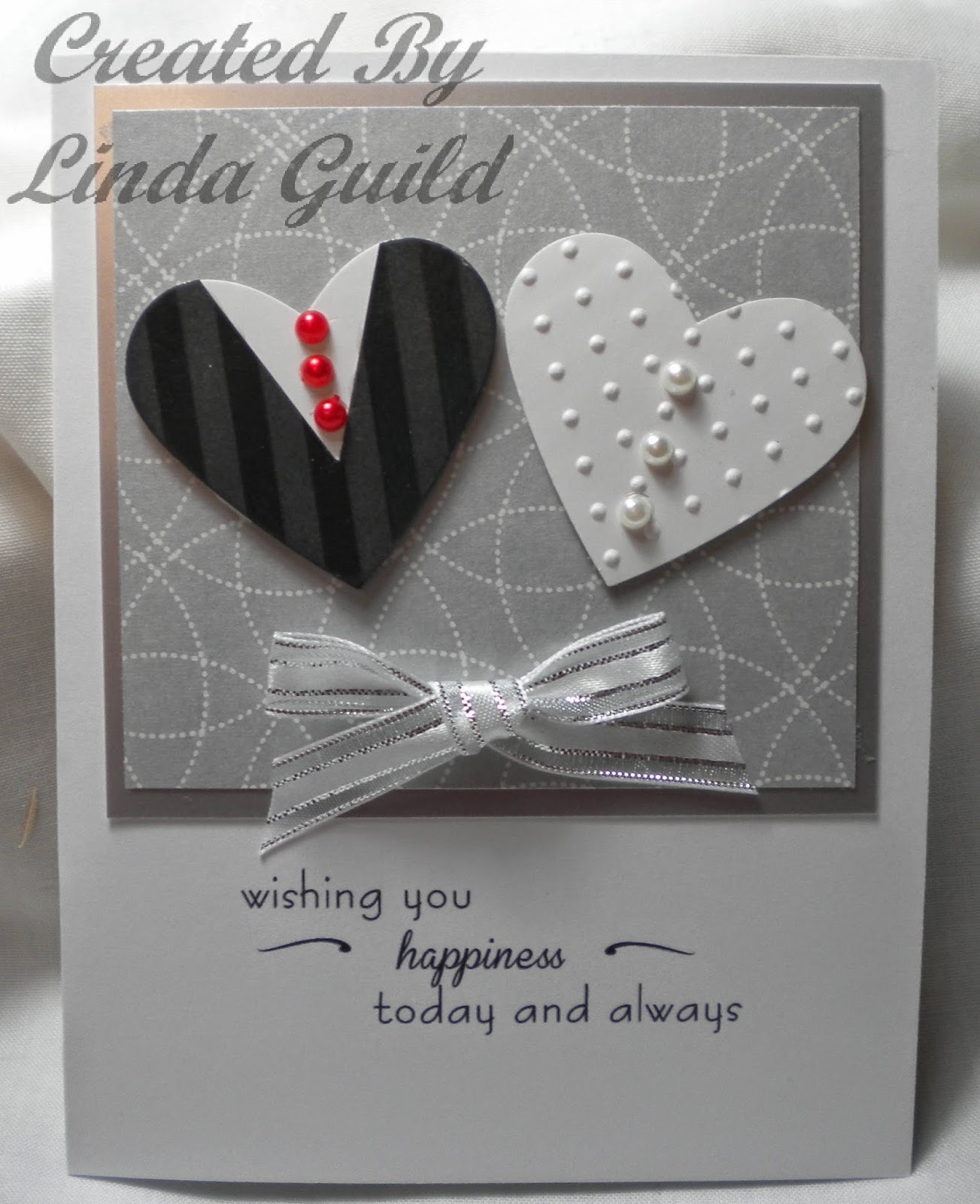 Nothin Fancy Two Hearts Wedding Card