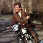 Clint Eastwood celeb on motorcycles, Dave Grohl celeb on motorcycles