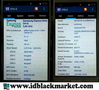 Spesifikasi Samsung S6 Exynos cpuz