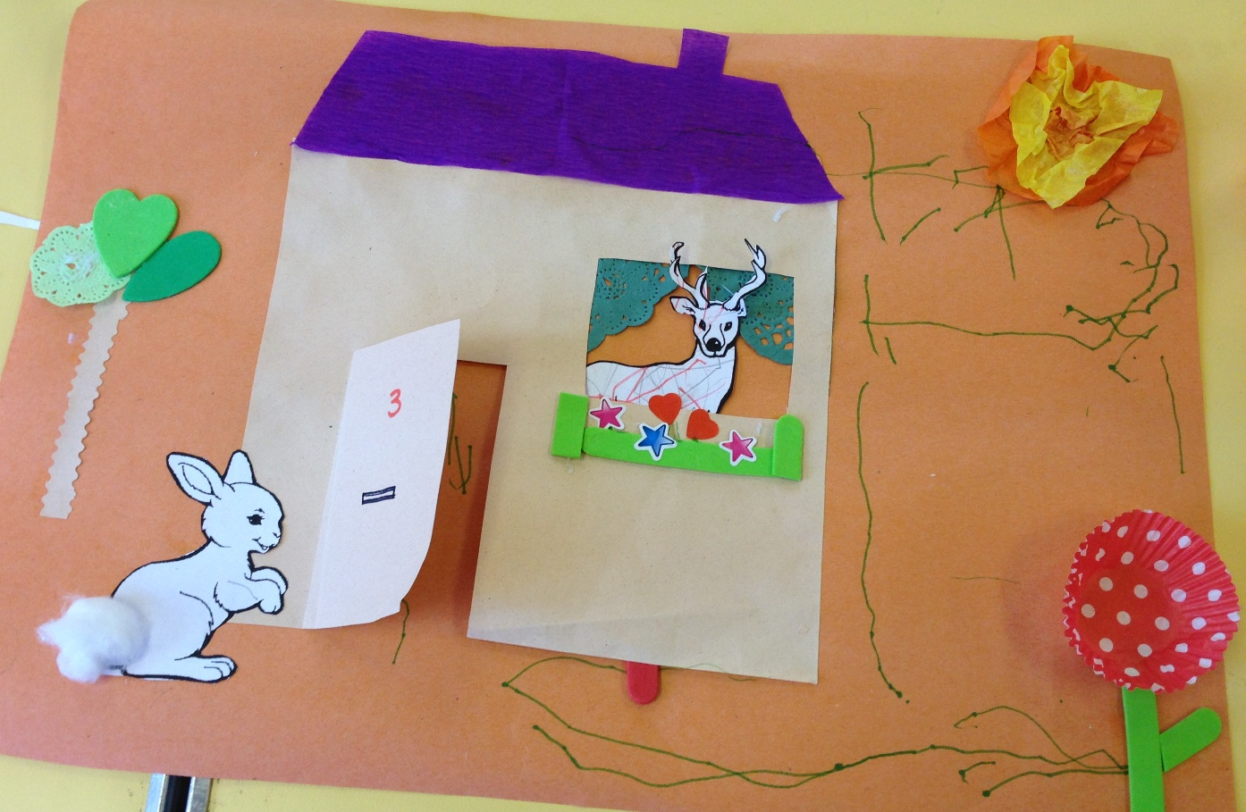 French for toddlers dans sa maison un grand cerf for Ajouter un tage sa maison