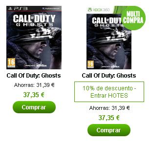 Super oferta en Zavvi.es, COD: Ghosts por menos de 40€