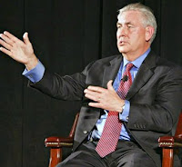 "At ExxonMobil's annual meeting in Dallas on May 27, Chief Executive Rex Tillerson didn't mention climate change in his prepared remarks to shareholders, a change from previous years. In response to questions on climate issues, Tillerson said ""the [scientific] models simply are not that good."" (Credit: William Munoz) Click to Enlarge."