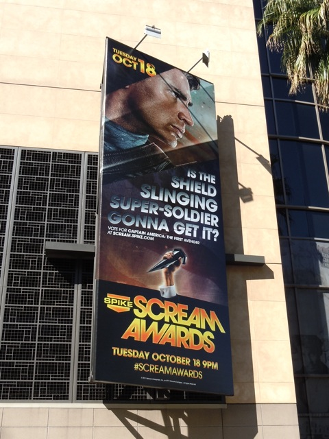 Captain America Scream Awards billboard