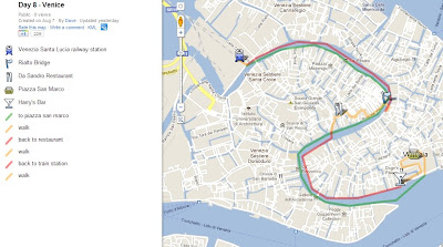 venice, italy, map, google maps, day 8, rialto bridge, st marks square, vaporetto, grand canal