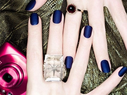 Something Blue Wedding Ideas - Blue Nail Polish