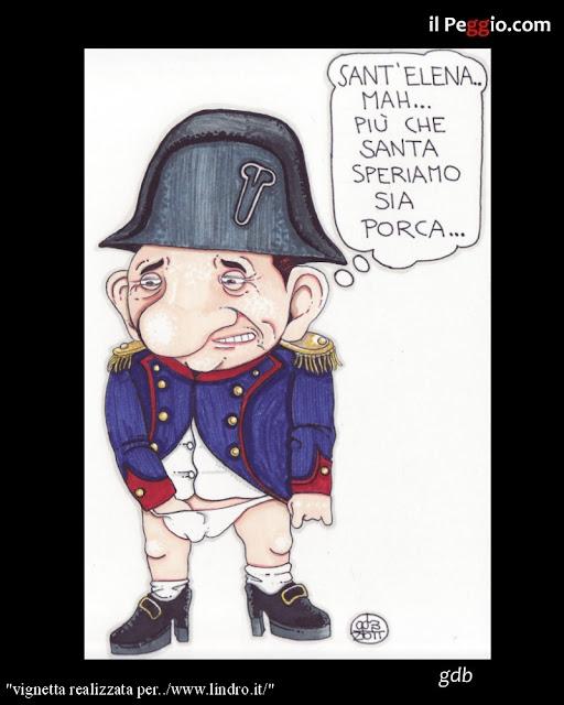 vignetta satirica su Berlusconi