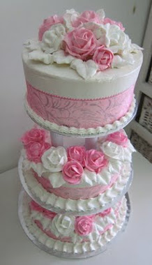 3 Tier Buttercream wedding cake