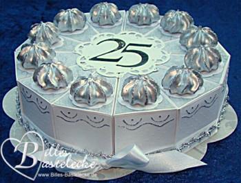 Billes Bastelblog: Torte zur Silberhochzeit