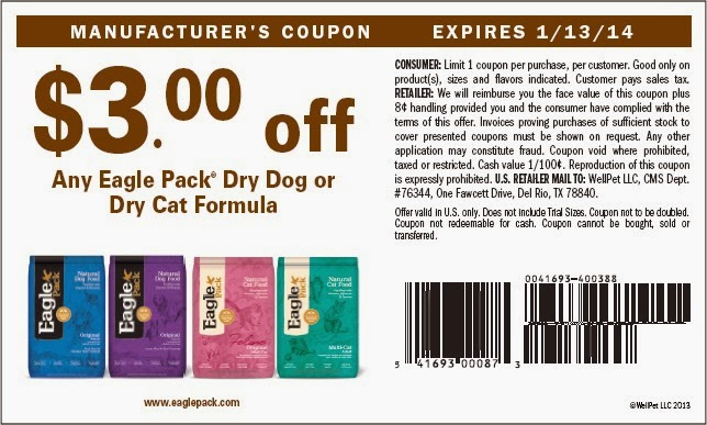 image about Printable Cat Food Coupons known as My Cat Nutritious Everyday living: 2014 Dry Cat Food items Discount coupons versus Eagle Pack