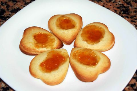 Pastas de mantequilla con mermelada