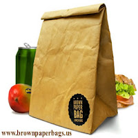 Brown paper food bags