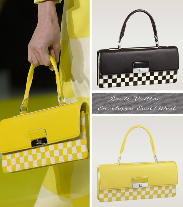 Louis Vuitton Damier Mosaic Enveloppe East/West Spring Summer 2013