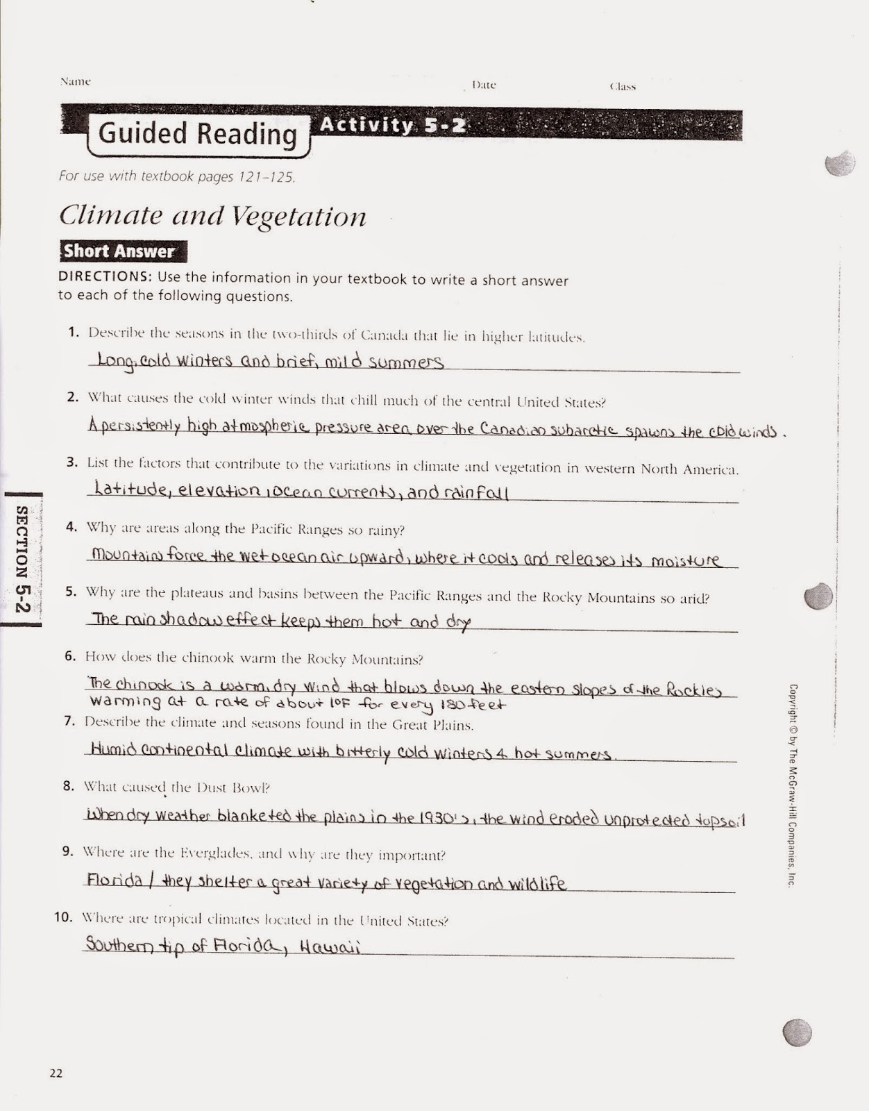 mr e s world geography page chapter 5 the physical geography of rh acewg blogspot com guided reading activity 5 1 government guided reading activity 5 1 answer key