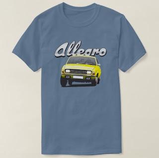 Austin Allegro t-paita logolla Zazzle