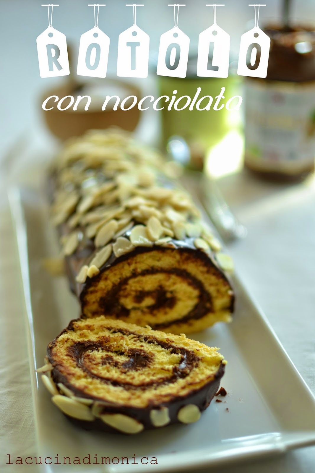 rotolo con nocciolata - pasta biscotto