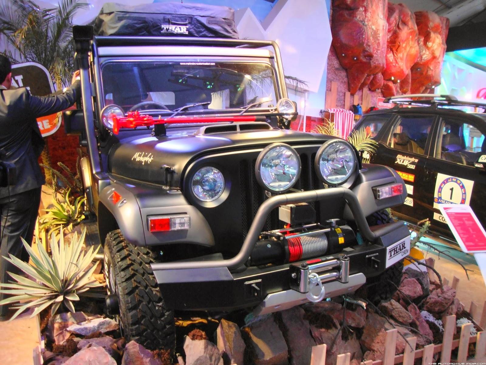 Thar Midnight Price >> Mahindra Thar Midnight Edition Showcased At Auto Expo 2014